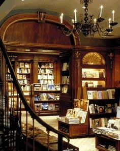 Elysian Bookstore resembles Rizzoli's in NYC. (Ch. 1)
