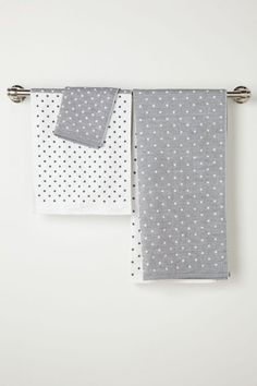 Freckled Shadow Towel Set by Anthropologie