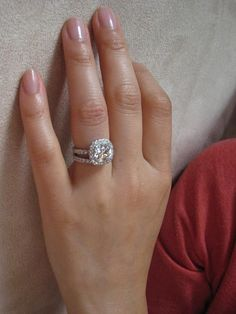 cushion cut with double band omg my future husband needs to see this