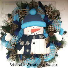 Snowman Wreath Adoorable Wreaths by Melissa