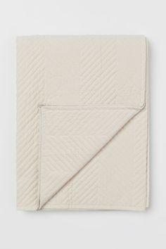Cotton velvet bedspread - Light beige - HOME | H&M NL 1