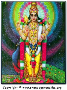 """""""Skanda Guru Kavasam is a hymn filled with bakthi to invoke the true Guru within us (God) - in the form of Lord Murugan - and beseech Bhagavan's grace to help us attain our true nature. For those without a Guru, Sri Skanda becomes our Guru. For those with a Guru, Sri Skanda helps us realize the Oneness of Guru and God."""""""
