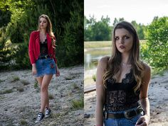 More looks by Madame Marcelline: http://lb.nu/madame_marcelline  #chic #romantic #street #spring #summer #bodysuit #jeans #jeansskirt #skirt