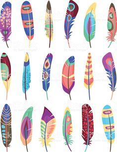 Resultado de imagen de plumas de pajaro pintadas