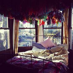 tassel garlands over my bed