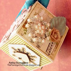 Decorated Photo Cube Ornaments - 99 Handmade Gifts Bloghop with The Crafty Scrapper by Anita Scroggins Maya Road, Smoothfoam