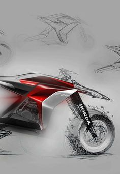 honda enduro concept sketch, motorcycle, hendrik nater Enduro Motorcycle, Motorcycle Style, Futuristic Motorcycle, Futuristic Cars, Concept Motorcycles, Custom Motorcycles, Honda, Bike Sketch, Motorbike Design
