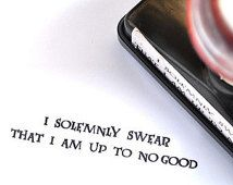 I Solemnly Swear That I Am Up To No Good (Harry Potter Series) Self-Inking Rubber Stamp