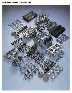 Exploded View of Car Engines Honda Motors, Motor Engine, Car Engine, Soichiro Honda, Race Engines, Combustion Engine, Japanese Cars, Mechanical Engineering, Muscle Cars