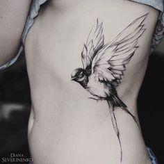 Swallow in Flight Woman's Side Piece | Best tattoo ideas & designs