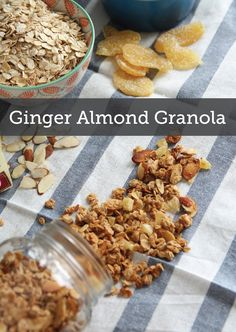 Coconut Ginger Almond Granola is a delicious breakfast and brunch treat that everyone will love! Make a large batch and jar it to save and take on the go, perfect for your busy day.