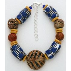african jewelry for women   Ivory Coast, Baoule tribe beads. Approx 7 inches with 1 inch chain ...