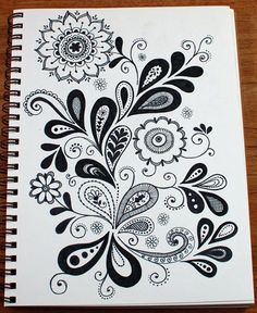 paisley/flower doodle, inspiration for carved ornaments Zentangle Drawings, Doodles Zentangles, Doodle Drawings, Flower Drawings, Drawing Flowers, Doodle Designs, Doodle Patterns, Zentangle Patterns, Patterns To Draw