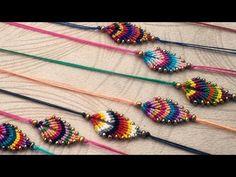 İpten Verev Sarma Yaprak Bileklik Yapımı | ( KOLAY ANLATIMLI İPTEN BİLEKLİK YAPIMI ) #diy #kendinyap - YouTube Handmade Crafts, Diy And Crafts, Macrame Knots, Creative Thinking, Friendship Bracelets, Beaded Jewelry, Knitting Patterns, Beads, Crochet