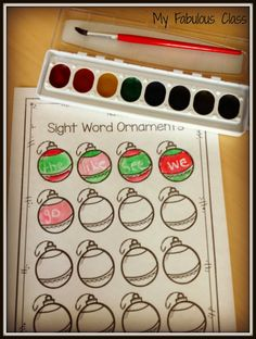Christmas Sight Word Ideas