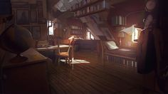 ArtStation - What Remains of Edith Finch Bedroom Concept, Theo Aretos