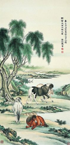 马晋 四骏图 by China Online Museum - Chinese Art Galleries, via Flickr