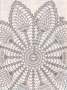 Ideas For Crochet Patrones Ganchillo - Diy Crafts - DIY & Crafts Motif Mandala Crochet, Crochet Butterfly Pattern, Crochet Doily Diagram, Crochet Pillow Pattern, Crochet Doily Patterns, Crochet Designs, Filet Crochet, Thread Crochet, Crochet Sunflower