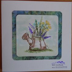Card with Waterbased Markers and Art Impression stamps