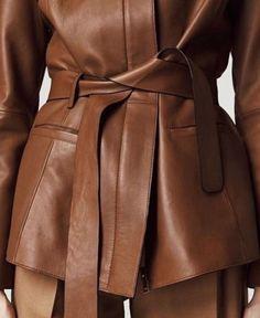 Fashion Gone Rouge, Fashion Details, Fashion Design, Street Style, Beautiful Blouses, Leather Fashion, Brown Fashion, Fashion Outfits, Womens Fashion