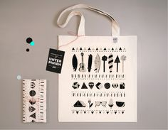 Jutebeutel mit Strandmotiv // tote bag with beach print by UNTER PINIEN WERKSTATT via DaWanda.com