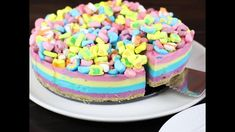 Lucky Charms pie melted marshmallow colored layers
