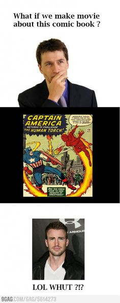 """As soon as they told me Chris Evans was going to play Steve Rogers, I was like, """"LOL, no. Johnny Storm canNOT be Captain America!"""" I was wrong."""