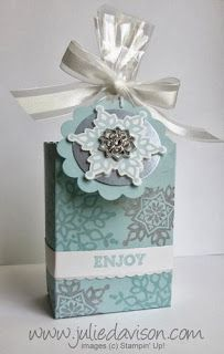 Julie's Stamping Spot -- Stampin' Up! Project Ideas Posted Daily: VIDEO: Half Sheet Treat Box Tutorial