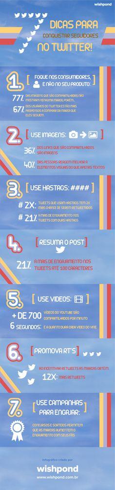 Infográfico: 7 dicas para conquistar seguidores no Twitter