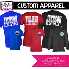 CUSTOM APPAREL: Custom Mascot with School Name School Sprit Shirt, Teacher T-Shirt