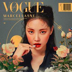 Son Naeun for Vogue Korea. Graphic Design Posters, Graphic Design Inspiration, Character Inspiration, Fashion Graphic Design, Graphic Art, Umibe No Onnanoko, Magazin Design, Illustration Mode, Nature Illustration