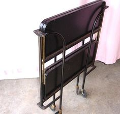 Vintage Mid Century Metal Folding Cart on Wheels by TotallyVintage, $89.00