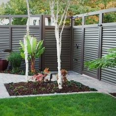 Used Corrugated Metal As Fencing Bing Images Outdoor