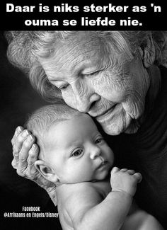 Babies and old people have a lot of time on their hands. That's probably why they get along so well. But really, a baby does not recognize the depth of the wrinkles or the texture of the skin. All they feel is safe, secure and adored by the old hands[. Newborn Photography, Portrait Photography, Amazing Photography, Foto Baby, Jolie Photo, People Of The World, Children And Family, Baby Family, Black And White Photography