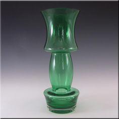 Riihimaki/Riihimaen Lasi Oy Finnish Green Glass Vase #1 - £60.00