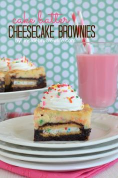Easy Cake Batter Cheesecake Brownies Recipe