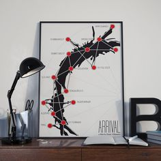 Mapping the Impossible // Arrival Inspired Alternate Movie Poster // Science Fiction Alien Language Iconography and Morphology by TheGeekerie on Etsy