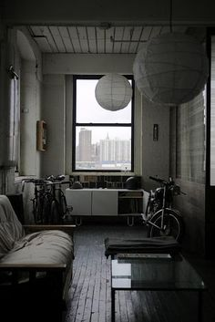 If I had to live in the city-- doing it with a motorcycle and three bikes in living room would be the way to go.