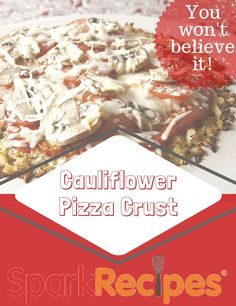 You Won't Believe It's Cauliflower Pizza Crust Recipe. Dont have to precook cauliflower. Gluten Free Recipes, Low Carb Recipes, Cooking Recipes, Healthy Recipes, Cooking Chicken To Shred, Cauliflower Crust Pizza, Crust Recipe, Recipe Details, Healthy Cooking