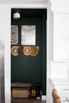 brunette story home reveal midcentury modern green mudroom reveal