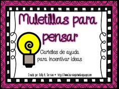 A set of 6 posters with thinking/sentence stems to encourage higher order thinking skills. All written in Spanish, these posters are ideal for whole class, small group or individual instruction.  The set includes: -Metacognition/Metacognición -Schema/Esquema -Infer/Inferir -Asking Questions/Hacer preguntas -Visualizing/Visualizar -Synthesizing/Sintetizar