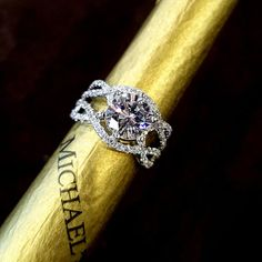 Our vintage inspired design is built for a 1.50 carat diamond. #michaelscreativejewelry #vintagediamondengagementring