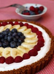 Tart for Fourth of July is red, white and blue