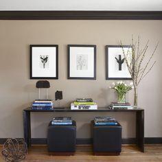 Living Room - eclectic - living room - detroit - Dunlap Design Group, LLC (wall color Benjamin Moore HC-77 Alexandria Beige)