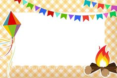 Convite Ou Moldura Festa Junina Gyerekek Camping Parties Art és