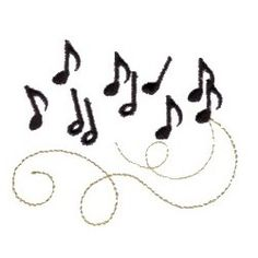 9 Music Notes Machine Embroidery Designs Images - Music Notes ...