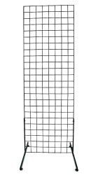 Black 2' x 6' Standing Grid Screen - could be a low cost trellis for outdoor spaces - $24