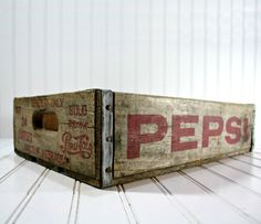Pepsi Crate - this is a memory. Always a full one of these under the stairs in Grandma's basement. :)