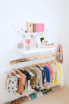 Branch clothing rod: inspiration for kids shop displays. via Bloesem kids