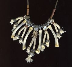bone and nut necklace--more post-apocalyptic than steam punk i realize
